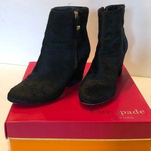 Kate Spade Black Calf hair/ leather booties